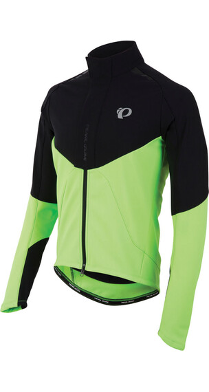 PEARL iZUMi Pro Softshell Jacket Men Black/Screaming Green